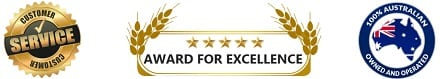 Customer Service Award For Excellence for Quality Carpet Cleaning and Steam Cleaning Australia